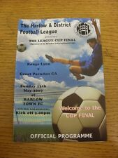 13/05/2007 harlow league cup final: rouge lyon v great parndon ca [à harlow tow