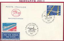 ITALIA FDC CAVALLINO 1987 VIA AEREA CONCORDE VOLO BOLOGNA NEW YORK Z988