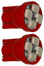 2x ampoule T10 W5W 12V 4LED SMD rouge veilleuses éclairage intérieur coffre
