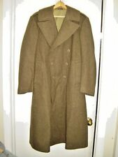 1945 WW2 US Army Military 38R Wool  Men's Overcoat Roll Collar Ruptured Duck
