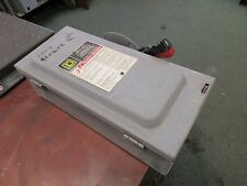 Square D Non-Fusible Safety Switch HU361 30A 600V Used