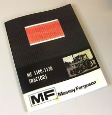 MASSEY FERGUSON MF 1100 1130 TRACTOR OWNERS OPERATORS MANUAL MAINTENANCE