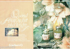 PUBLICITE ADVERTISING 056  1982  Eau parfum Anais Anais de Cacharel(2p) S. Moon