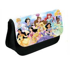Disney Princesses Black Canvas Pencil Case, Make-Up Bag