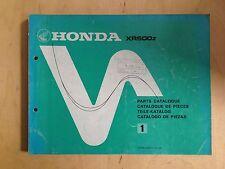 Honda XR 500 Z Ersatzteilekatalog / Parts List