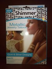 Shimmering Metallic Jewelry Tattoos Set of Gold and Silver