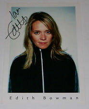 EDITH BOWMAN HAND SIGNED PROMO PHOTO RADIO ONE