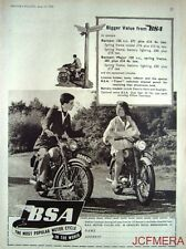 1955 Motor Cycle ADVERT - B.S.A. '125cc Bantam' & '150cc Bantam Major' Print AD