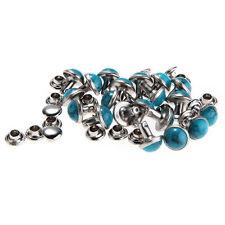 20 Rivet Clou Turquoise Bleu Pr Sac Ceinture Chaussure Bracelet Apprêt DIY