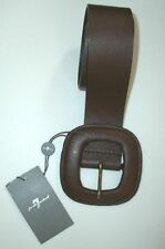 7 Seven FOR ALL MANKIND Square BUCKLE Belt GENUINE LEATHER XS $118 BROWN