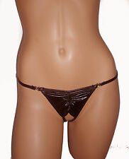 EROTIC SEXY THONG S M / Uk 6 8 10 NEW 609 Thong Black lingerie