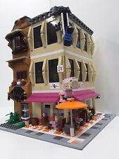 Lego Custom Modular Donut shop cafe, Gym, Dojo and house corner by Erockzart
