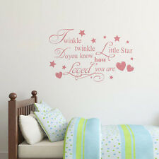 Kids Room Decal Quote Wall Sticker Removable Twinkle Twinkle Little Star
