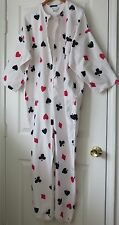Jennifer Moore One Piece Pajama Cotton Flannel Onesies Medium NEW NWOT Card Play