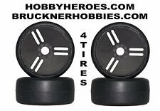 NEW 1:8 GRP VELOCITY tires S5. 4 Rubber GT Slicks for speed runs Free shipping!