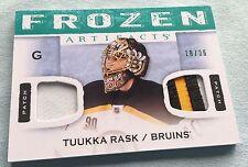 2014-15 ARTIFACTS FROZEN ARTIFACTS DUAL PATCH FA-TR TUUKKA RASK - Bruins  18/36