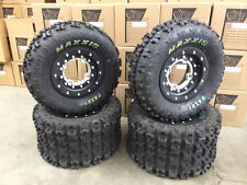 Hiper Tech 3 Beadlock Wheels Maxxis Razr 2 Tires Front/Rear Kit LTR450 LTZ400