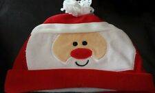 Santa Hat- Cap- Baby- Velour- 0 to 6 Months- Holiday, Christmas- New!