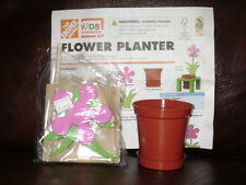 NEW HOME DEPOT KIDS WORKSHOP FLOWER PLANTER KIT LOWES BUILD GROW WOODEN PROJECT