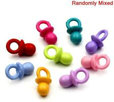 50 MIXED ACRYLIC DUMMY PACIFIERS PENDANTS~Baby Showers~Pram Charms~Chains ()