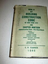 Book II of Building Construction Code of New York City NYC Starbuck 1946