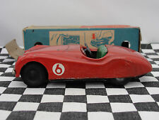 SCALEX TIN PLATE  XK JAGUAR RED #6  1950,S  1.32  USED BOXED