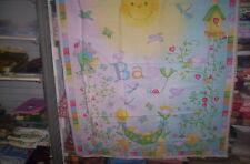 """Baby quilt top un-quilted  36 x45""""  1 panel """"Garden Baby"""""""
