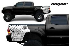 Toyota Tacoma 2005-2013 Rear Decal - 2nd Amendment Gun Sniper Rights Matte White