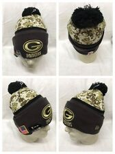 Green Bay Packers New Era OFFICIAL On Field Salute Service Sideline Knit Hat