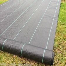 2m x 50m Heavy Duty Weed Control Woven Fabric Ground Cover Mulch Membrane 100gs