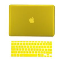 """2 in 1 YELLOW Rubberized Case for NEW Macbook Pro 13"""" A1425 Retina display + Key"""