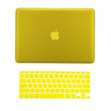 "2 in 1 YELLOW Rubberized Case for NEW Macbook Pro 13"" A1425 Retina display + Key"