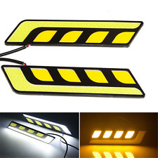 2X Waterproof LED COB Car Auto DRL Driving Daytime Running Lamp Fog Light New