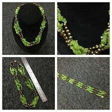 Emerald Green Genuine Pearl Necklace From Hawaii