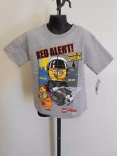 """NEW LEGO MOVIE """"RED ALERT"""" BAD COP KIDS SIZE 4 S SMALL SHIRT"""