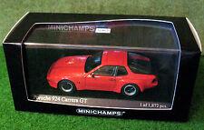 MINICHAMPS 1/43rd ~ Porsche 924 GT 1981 ~ Red ~ 400 066120 ~ NEW