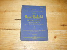 Spare & Replacement Parts List for Royal Enfield Ensign 148cc (Illustrated)