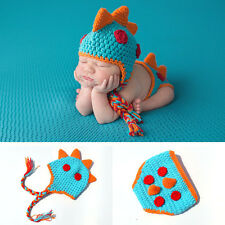 Baby Boy Girl Newborn Kids Hat Cap Beanie Hair Accessories Dinosaur Dragon Photo