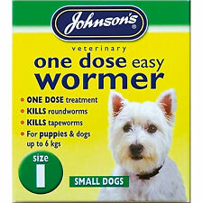 Johnsons One Dose Easy Roundworm Wormer Worming Tablets For Small Dogs Up To 6kg