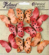 BUTTERFLY SPICE Mix 8 Teastained Paper 32-33mm across Darjeeling Petaloo