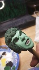 custom painted hulk  head for 12 inch figure