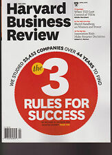 "NEW HARVARD BUSINESS REVIEW MAGAZINE APRIL 2013 ISSUE, ""THE 3 RULES FOR SUCCESS"""