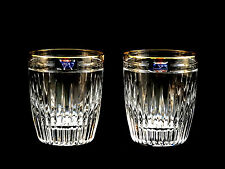Waterford Marquis Hanover Gold DOF Double Old Fashioned Glasses Creamer Sugar