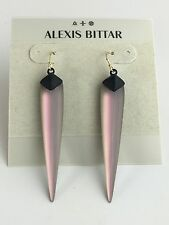 NEW Alexis Bittar Pink Rose Opal Lucite Long Matte Spike Dangle Earrings $135