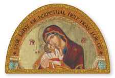 OUR LADY OF PERPETUAL HELP - GOLD FOIL WOODEN PLAQUE PICTURE STATUES ALSO LISTED