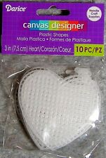 Darice Needlecraft Supplies Plastic Canvas Shapes 10 Pack: 3~Inch (7.5cm) Hearts