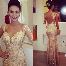 Sequins One Shoulder Long Mermaid Pageant Prom Dress Formal Evening Party Dress