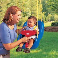 NEW! Little Tikes 2-in-1 Snug 'n Secure Swing Blue Outdoor Toy Slides Gyms
