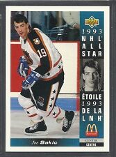 1993-94 Upper Deck McDonald's NHL All Stars - #24 - Joe Sakic - Nordiques