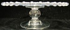 Vintage Miniature Child Imperial Candlewick Cup Cake Plate Stand Footed Pedestal